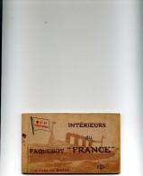 CARNET INTERIEUR PAQUEBOT FRANCE 12 VUES - Dampfer