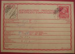 Opatija / Abbazia - Telegrammaufgabeschein (Mi TA 62) Für Telegramm Nach Wien 1913 - Croatia