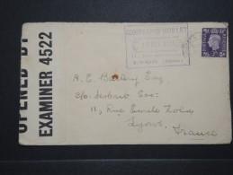 GRANDE BRETAGNE - Enveloppe Pour La France En 1941 Avec Controle Postal - A Voir - Lot P14758 - Briefe U. Dokumente
