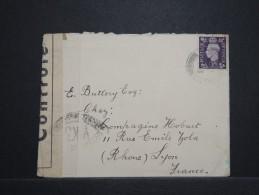 GRANDE BRETAGNE - Enveloppe Pour La France En 194.. Avec Controle Postal - A Voir - Lot P14759 - Briefe U. Dokumente