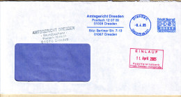 BRD Privatpost 2005 Post Modern Briefdienst Dresden / Amtsgericht 'EINLAUF' -Stempel - [7] Federal Republic