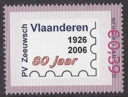 Nederland - Persoonlijke Postzegel - 80 Jaar Postzegelvereniging Zeeuwsch Vlaanderen 1926 - 2006 - Xx/MNH/postfris - Netherlands