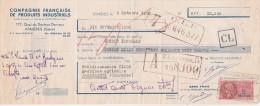 Lettre Change 9/10/1950 Compagnie Française De Produits Industriels  ASNIERES Pour Barbezieux 16 - Lettres De Change