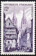 France - N°  979 * Quimper La Rue Kéréon Et La Cathédrale St Corentin (Bretons, Cheval) - France