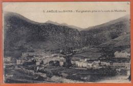 Carte Postale 66. Amélie-les-bains Vue De La Route De Montbolo Trés Beau Plan - Autres Communes