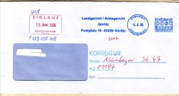 BRD Privatpost 2006 Post Modern Briefdienst Dresden Nebenstempel 'Korrektur' Und 'EINLAUF' - [7] Federal Republic