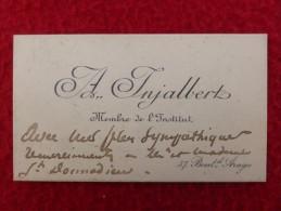CDV AUTOGRAPHE INJALBERT ARTISTE SCULPTEUR - Historical Documents