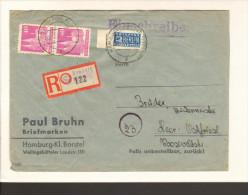 Einschreibe-Fernbrief V.Hamburg-Fuhlsbüttel V.7.1.49 Mit 2 X 40 Pfg.Bauten Weit Gez.Notopfer Geschnitten 2 Bilder - Bizone