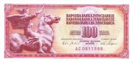 Yugoslavia - Pick 80 - 100 Dinara 1965 - Unc - Jugoslavia