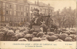 CPA 71 CHALONS SUR SAONE FETES DU CARNAVAL 1923 TONNEAU DES DANAIDES - Chalon Sur Saone