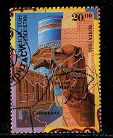 (cl.11 - P.34) Ouzbekistan Ob Tbre Du Bloc N° 6  (ref. Michel Au Dos) - Monument. Tête De Chameau Sur Carte - - Uzbekistan