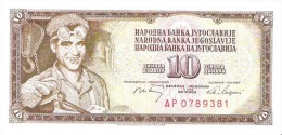 Yugoslavia - Pick 82 - 10 Dinara 1968 - Unc - Jugoslavia