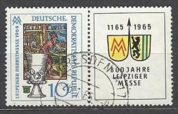 DDR - Mi-Nr. 1052 /Zf - W Zd 138 Leipziger Herbstmesse Gestempelt - [6] República Democrática
