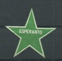 ESPERANTO - STELLA  -ERINNOFILO CHIUDILETTERA CINDARELLA - Esperanto