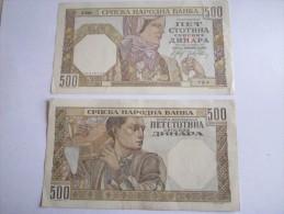 ------1 Billet 500 DINARA-1941 --SERBIE-YOUGOSLAVIE---TTB-SUP----- - Serbie