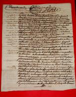 Vieux Papiers - Drôme 1794 Acte De Vente à Déchiffrer établi à Pierrelatte  - Notaire Me Berenger Manuscrit Paléographie - Manuscrits