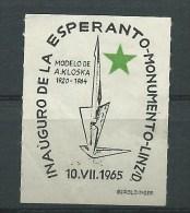 ESPERANTO - LINZ 1965 - INAUGURAZIONE MONUMENTO ALL'ESPERANTO - ERINNOFILO CHIUDILETTERA CINDARELLA - Esperanto