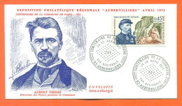 Enveloppe Albert Theisz - Exposition Philatelique Regionale - Aubervilliers 24/25 Avril 1971 - Marcophilie (Lettres)