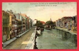 57. Metz. Zeughausstaden Mit Blick Auf Georgenbrücke Und Die Termen. Quai Del'Arsenal. Pont St. Georges.1907 - Metz