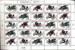 Vielles Voitures Ancètres OLD CARS   Feuille De 25 Tp Superbes  De 1995 - United States