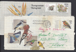 AFRIQUE DU SUD - 1987/92 - DEUX AEROGRAMMES ILLUSTRES, ECRIT DE JOHANNESBOURG Et AMANZIMTOTI VERS AZE - FR - - Afrique Du Sud (1961-...)