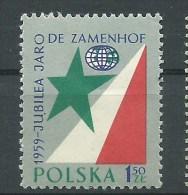ESPERANTO - POLONIA 1959 - Ludwik Lejzer Zamenhof  JUBILEO  - 1,50 Zt - Esperanto