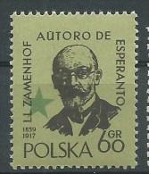 ESPERANTO - POLONIA 1959 - Ludwik Lejzer Zamenhof  JUBILEO  - 60 Gr - Esperanto