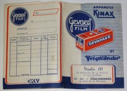 Pochette à Négatifs Gevaert Film Studio 10 Photo Cinéma Coulommiers 77 Seine Et Marne - Publicité Kinax Gevapan - Supplies And Equipment