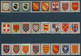 France 1943 à 1954 24 TP Neufs** Séries Armoiries De Provinces - Frankrijk