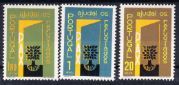 PORTUGAL 1960 .AFINSA Nº 851/853. Ano Mundial Dos Refugiados  .NUEVO CON  CHARNELA .SES230GRANDE - 1910-... Republiek