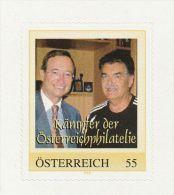 """Personalisierte Briefmarke  """"Kämpfer Der Österreichphilatelie Dr.Leitl Und Doloschefski"""" Selbstkl. MNH / ** / Postfrisch - Österreich"""