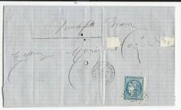 DROME - 1871 - LETTRE De CHATEAUNEUF De MAZENC GC 935 Pour DIEULEFIT - Storia Postale
