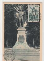 FRANCE    CARTE MAXIMUM   ROUGET DE L'ISLE N° 314 OBLIT. LONS LE SAUNIER - Maximum Cards