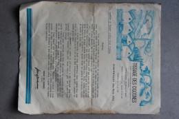 Tarif TISSAGES DES CIGOGNES 1933, SCHERWILLER (Bas-Rhin) - Vestiario & Tessile