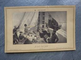 A Bord D'un YACHT, Photo Tableau Poirson Vers 1900 ; Ref PH 11 - Barcos