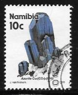 Namibia, Scott # 677 Used Azurite, 1991 - Namibia (1990- ...)