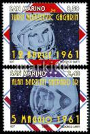 San Marino - 2011 - 50 Years Of First Manned Flight - Mint Stamp Set - Unused Stamps