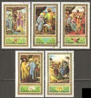 Fujeira 1971 Mi# 764-768 A Used - Christmas - Fudschaira