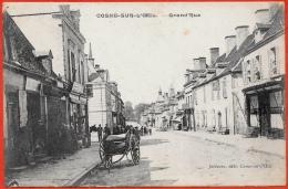 CPA 03 COSNE-sur-L'OEIL Allier - Grand'Rue (Charrette) ° Joliveau édit. - Otros Municipios