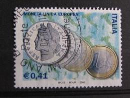ITALIA USATI 2002 - MONETA UNICA - SASSONE 2595 - RIF. G 2114 - 1^ SCELTA - 6. 1946-.. Repubblica