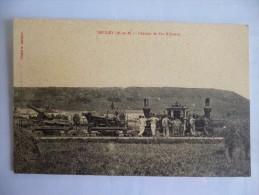 Bruley. Chemin De Fer Militaire. Cachet Au Dos:  Régiment D'artillerie à Pied. - Autres Communes