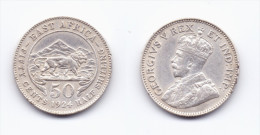 East Africa 50 Cents 1924 - British Colony
