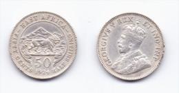 East Africa 50 Cents 1924 - Britse Kolonie