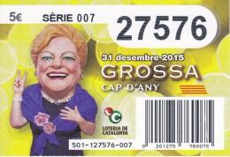 NÚMERO DE LOTERIA DE LA GROSSA DE CAP D´ANY DEL AÑO 2015 (LOTO) AMARILLO - Billetes De Lotería