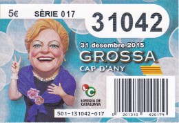 NÚMERO DE LOTERIA DE LA GROSSA DE CAP D´ANY DEL AÑO 2015 (LOTO) AZUL - Billetes De Lotería