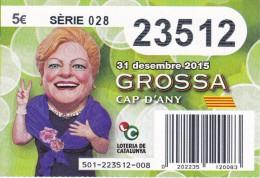 NÚMERO DE LOTERIA DE LA GROSSA DE CAP D´ANY DEL AÑO 2015 (LOTO) VERDE - Billetes De Lotería