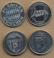 Medal S. Set 4 UEFA. Champions League. Bayern. BATE. Valencia. Lille LOSC, - Deportes