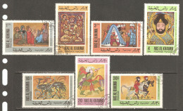 Ras Al-Khaima 1967 Mi# 167-173 A Used - Arab Miniatures And Paintings From The 12th To 14th Century - Ras Al-Khaimah