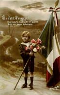 Belle  Carte   Patriotique    -   Enfants     Le Petit Français   ,avion     AC288 - Scènes & Paysages