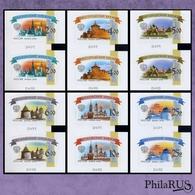 RUSSIA 2009/2015 ROLLEN Mi.1594 1597-1601 6th Definitive Kremlins | Set, 6 Pairs (MNH **) S/a - 1992-.... Federazione